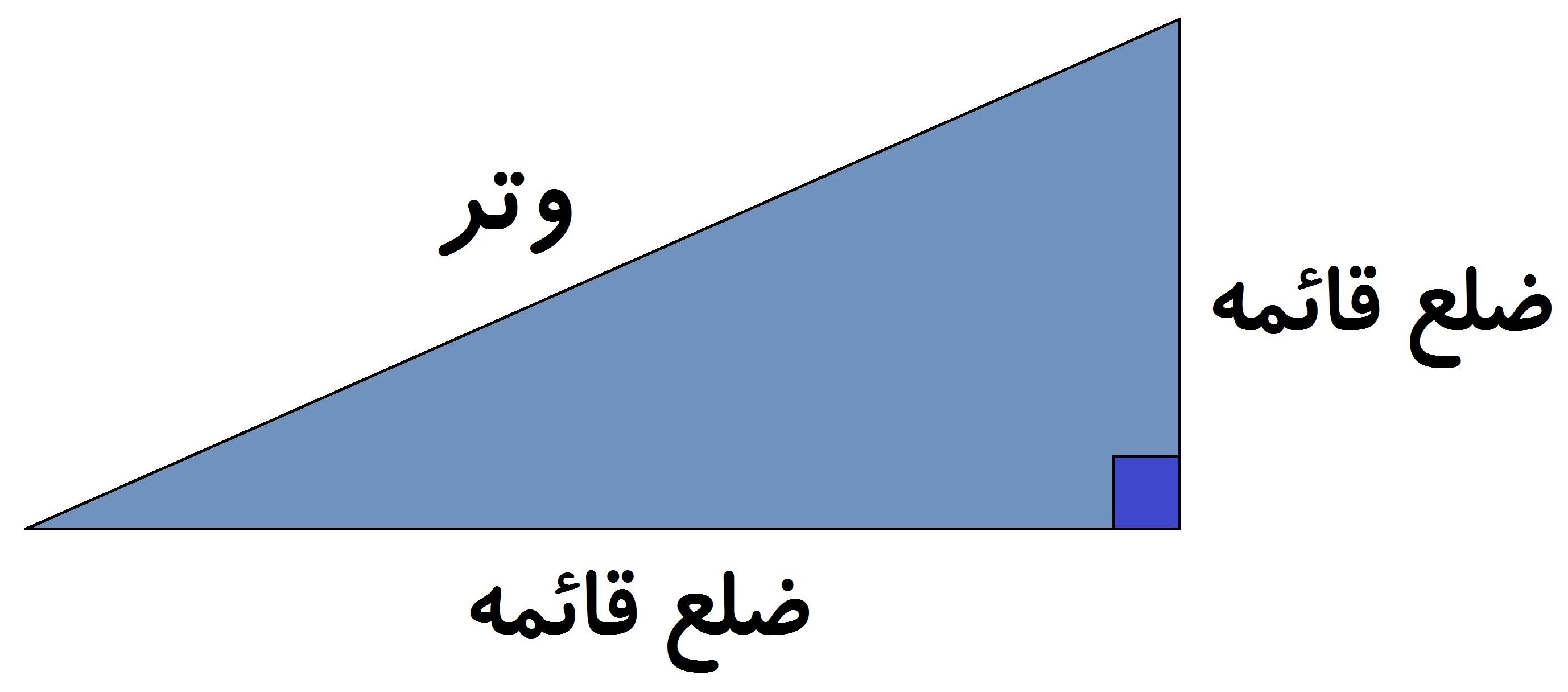 رابطه فیثاغورس - وتر و اضلاع قائمه - درس در خانه