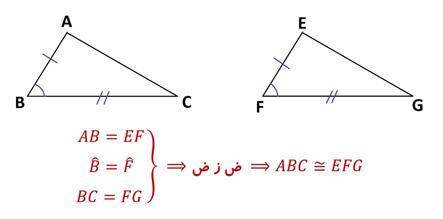 هم نهشتی مثلث ها - ض ز ض - درس در خانه