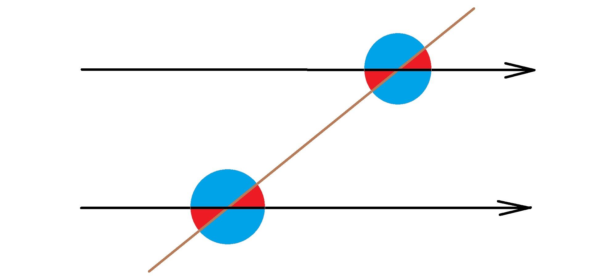 خطوط موازی و مورب - مثال