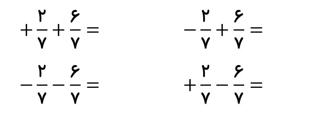 جمع عددهای گویا - مخرج های مساوی