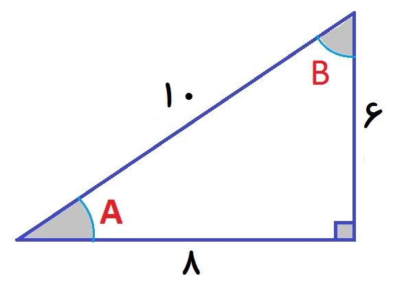 نسبت های مثلثاتی - مثال 1