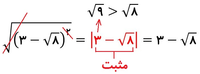 قدر مطلق - جواب مثال سوم