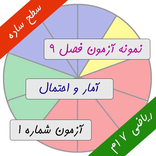 آزمون فصل نهم ریاضی هفتم آمار و احتمال